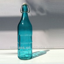 High quality 1 liter 32oz blue color glass bottle for tequila