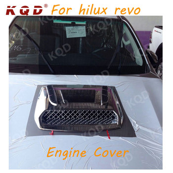 Cheap price products 100% perfect fit chrome engine cover for hilux revo 2015 2016