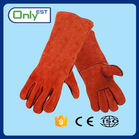 Cheap Price cowhide leather protective hand welding gloves industrial safety equipments