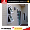 UPVC cheap price awning window double glazed top hung window