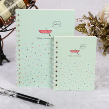 Customized personalized logo printed spiral notebook with colored paper