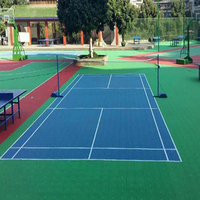 Free sample standard badminton court flooring outdoor sports floor basketball plastic mats