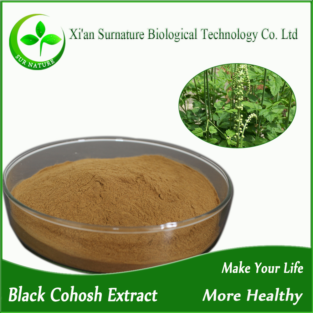 High quality black cohosh extract powder triterpene glycosides 2%~8%