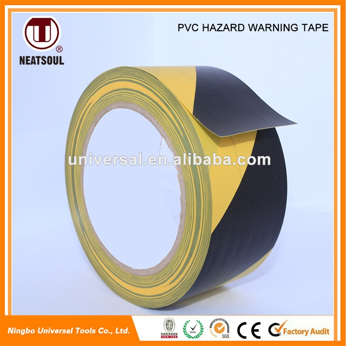 Highly visible Self-Adhesive PVC Hazard Warning Tape
