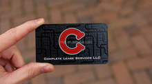 Customized brushed stainless steel business card