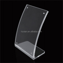 A3 Acrylic desktop meeting card stand with magnet for display