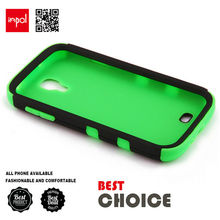 Shockproof and Easy-to-grip cell phone case for samsung galaxy s4 with hard pc exterior and soft gel inner