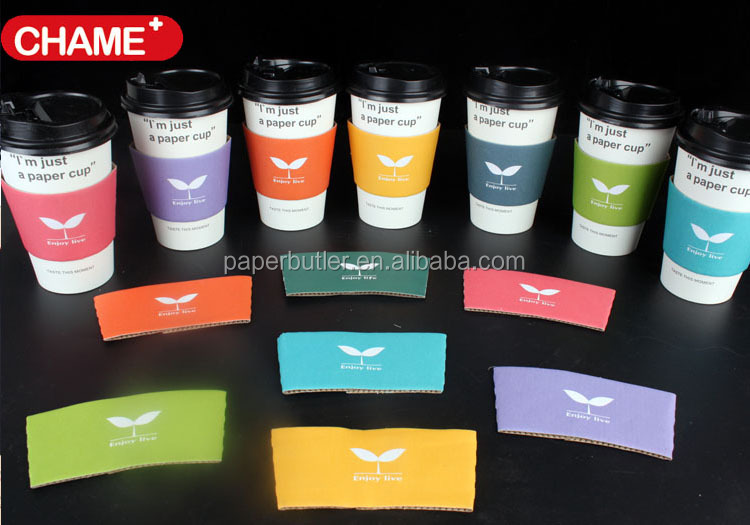 custom paper coffee cups sleeves Disposable coffee cups with plastic lids, cardboard sleeves and stir straws (125 count) white 12oz, paper hot plastic travel lid office/party pack.