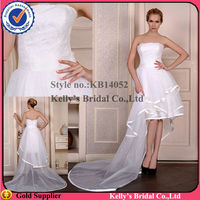 KB14052 front short and long back wedding dress