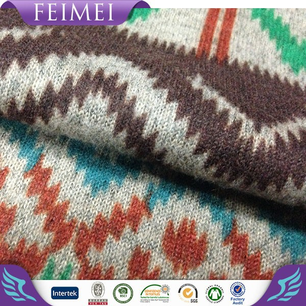 Feimei Knitting 100% Polyester Cashmere Like Fabric