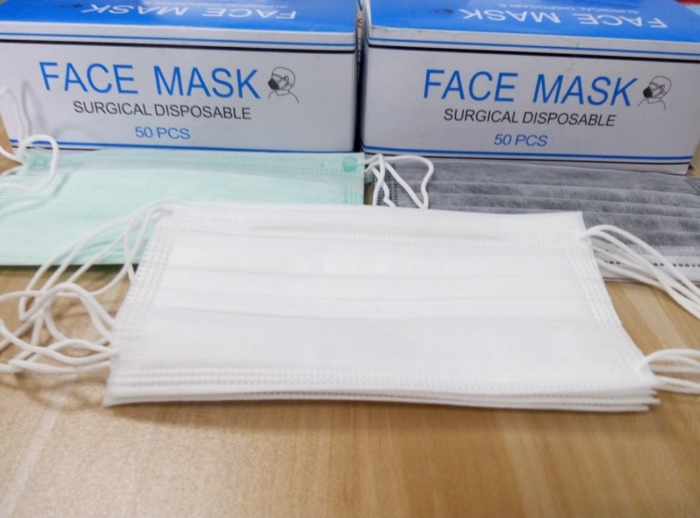Earloop Medical Dental Non-woven 3 Ply Face Mask