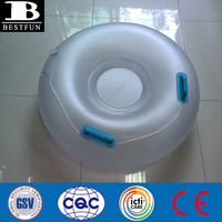 Durable cheap inflatable snow tube with LED translucent snow tube with LED