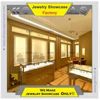Luxury jewelry shop showcase furniture for jewellery showroom interior design
