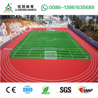 Hot selling Spray Coat System Running Track with IAAF standard quality