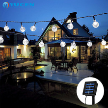 10m 100LEDs outdoor led christmas light waterproof garden solar ball string light