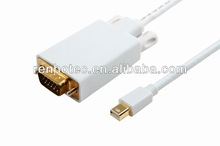 mini DP/displayport male to VGA male cable,white