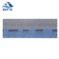 Cheap Wholesale Philippines coloured glaze asphalt shingle harbor blue for Prefab Villa