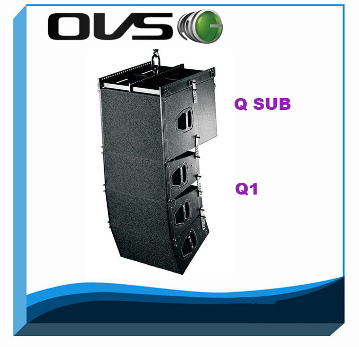 Dual 10inch passive line array sound system+800W Q1 line array speaker box