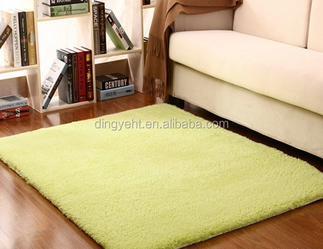 cheap and good quality home shag silky carpet rug