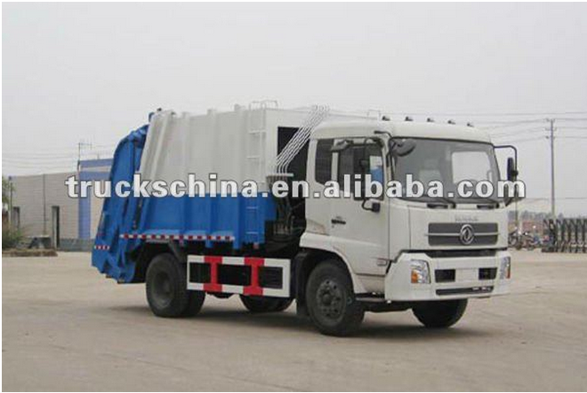 Dongfeng Factory 13 cubic garbage can cleaning truck