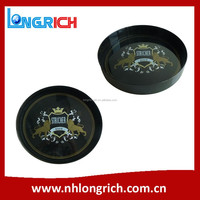 Anti-slip Round Plastic Bar Serving Tray Wholesale