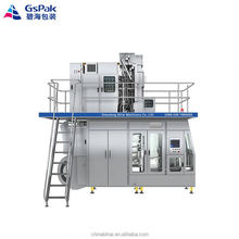 aseptic spouted brick pouch filling packaging machine