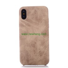 Ultra Slim Retro Stone Pattern PU Leather Protective Mobile Phone Case Back Cover For iPhone X