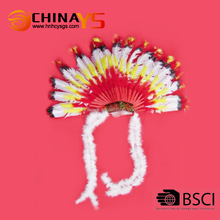 New arrival Wholesale hot selling classic indian feather headband diy