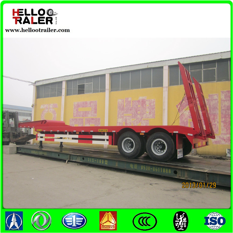 two axle 30 ton low bed truck trailer