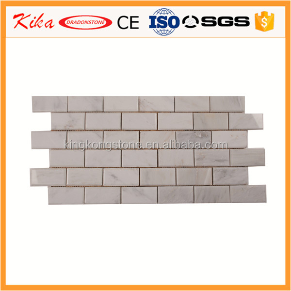 Wholesale White Italian Marble Subway Brick Mosaic Tile Polished