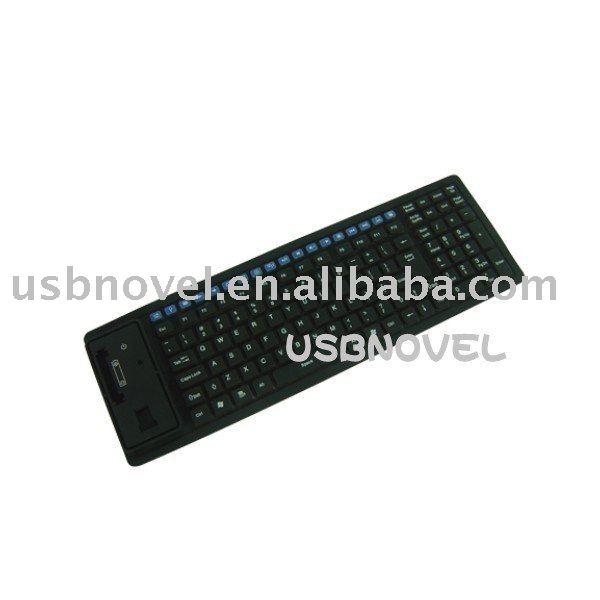 125 keys 2.4 Ghz wireless silicone Keyboard with waterproof fuction