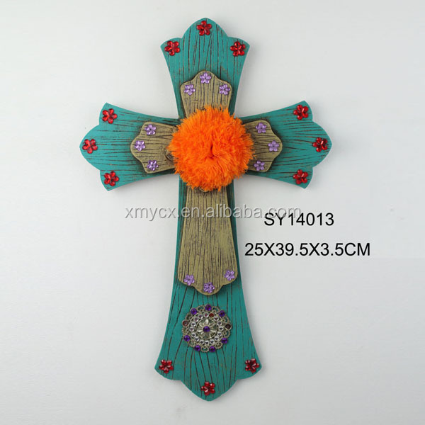 Church craft decors resin large wood crosses wholesale for Cheap wooden crosses for crafts
