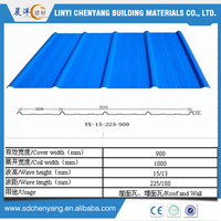 China Shandong Coated galvanized steel sheet / roofing sheet