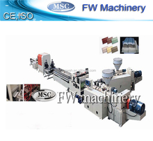 wpc fence panel making equipment wpc profile production line