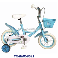 new fashionable cheap manufacturing factory wholesale mini blue white children kids BMX bicycle