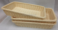 storage Use and rattan Material rattan basket with compartment
