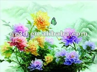 best seller 30x40cm PET super HD 3d pictures of beautiful flowers still life series (5037)