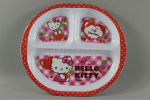Baby Melamine Dinner Plate With Divider