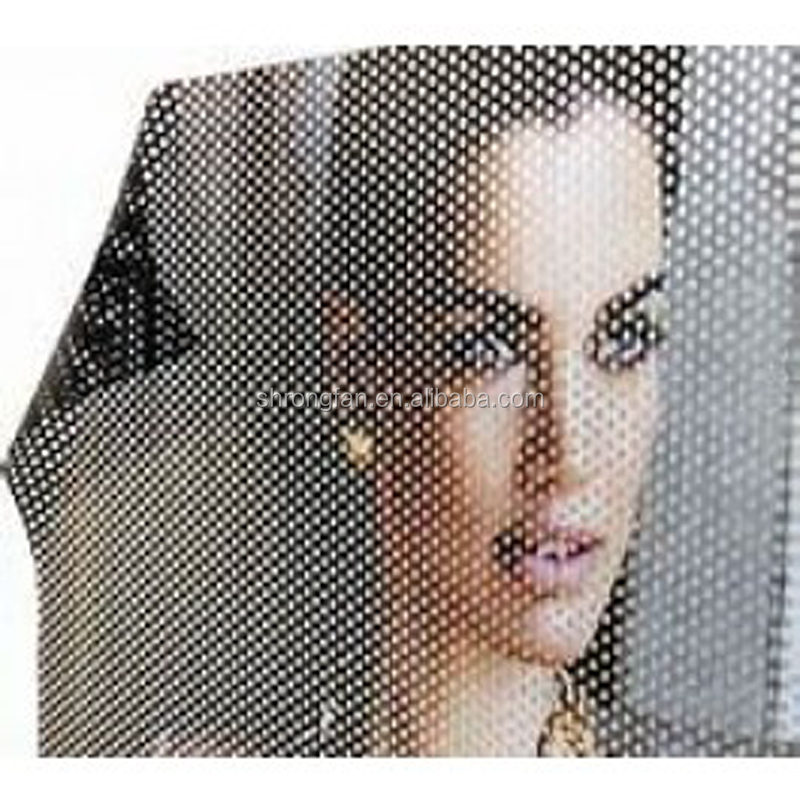 One Way Perforated Vinyl Privacy Window Film with black Adhesive of Glass Wrap
