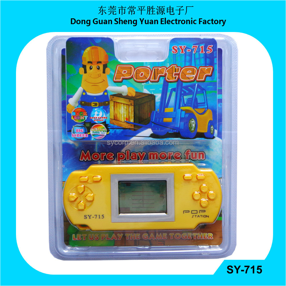 2015 newest SY-715 LCD Porter Game with back light single game player
