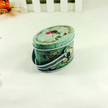 Cute portable metal mini oval chocolate tin container