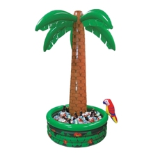 Customized Large Coconut Plam Tree PVC Inflatable Floating Cooler Ice Bucket