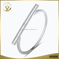 2016 Yiwu new fashion 925 sterling silver bracelet with top zircon cheap wholesale