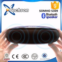 CE Rohs OEM bluetooth speaker portable, touch button portable bluetooth speaker with FM radio