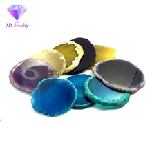 Cheap price different color natural agate slice wholesale