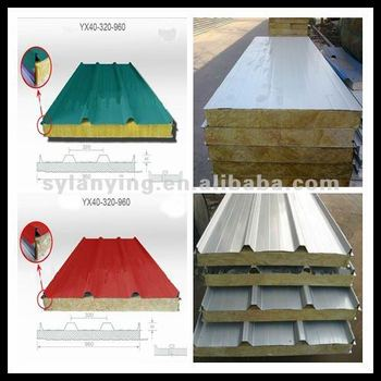 Galvanized Steel Rockwool Fire Rated Sandwich Panel Buy