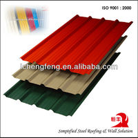 hot-dip Galvanized color coated ppgi/gi corrugated sheet for metal roof sheet