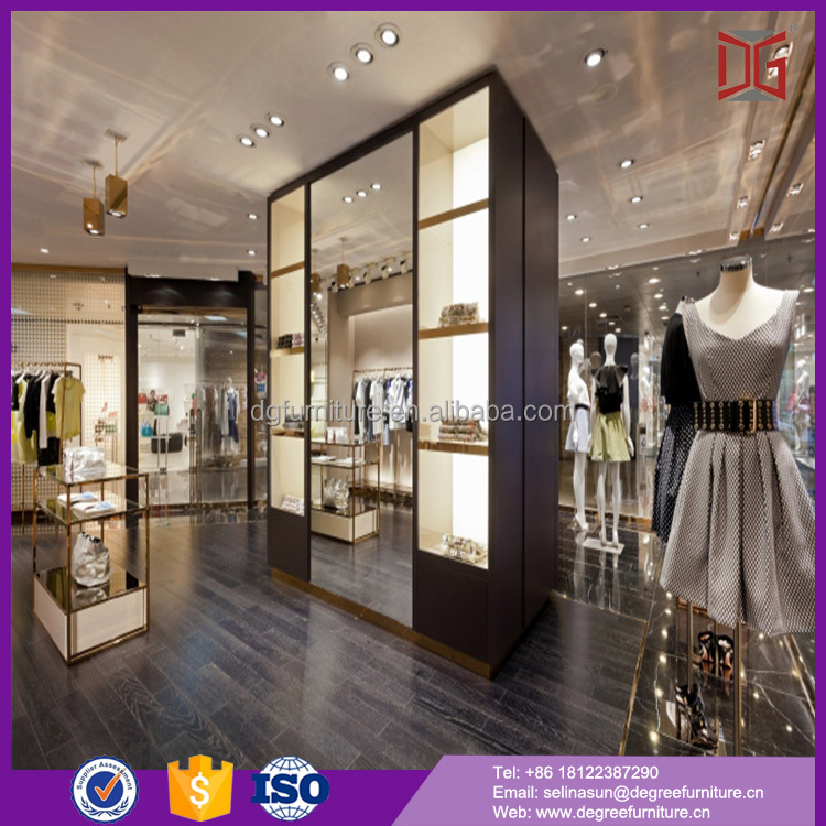 Free Design Wooden Ladies Tile Garment Showroom Display