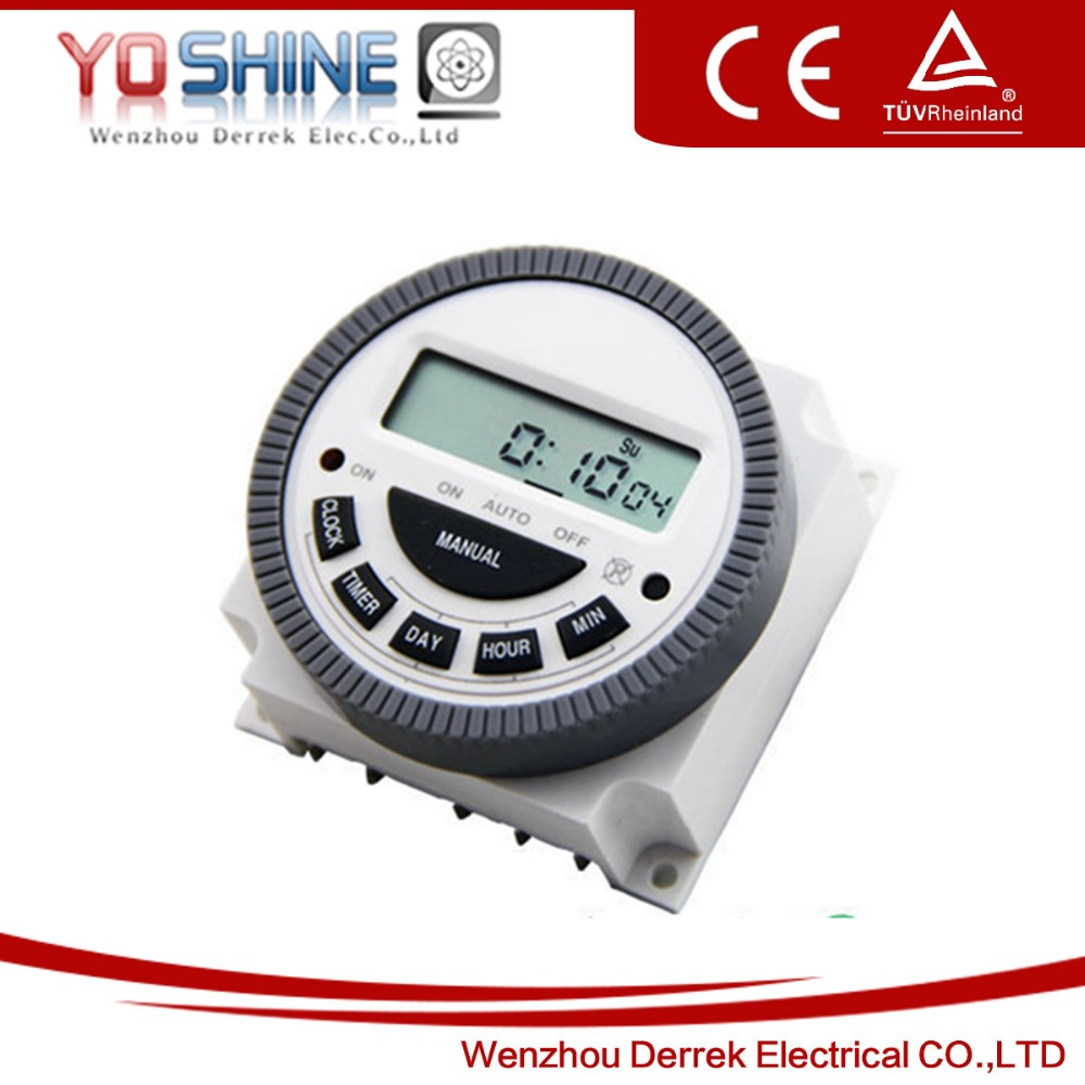 Weekly 220v Programmable Digital Timer Switch Digital Kitchen Timer