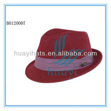 Colorful cheap custom made fedora hats for men